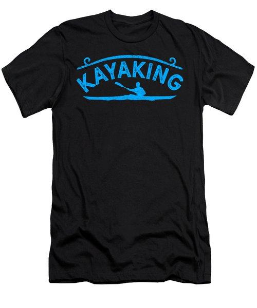Kayak Kayaking Blue Gift Light Men's T-Shirt (Athletic Fit)
