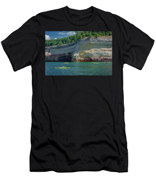 Kayaking The Pictured Rocks Men's T-Shirt (Athletic Fit)