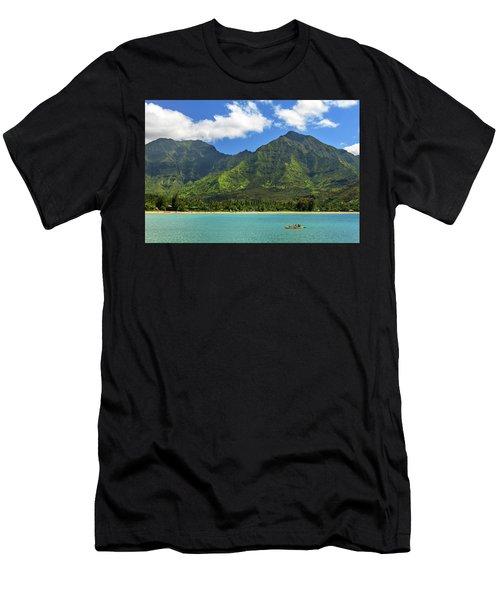 Kayaks In Hanalei Bay Men's T-Shirt (Athletic Fit)