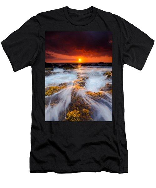 Keahole Point Sunset Men's T-Shirt (Athletic Fit)