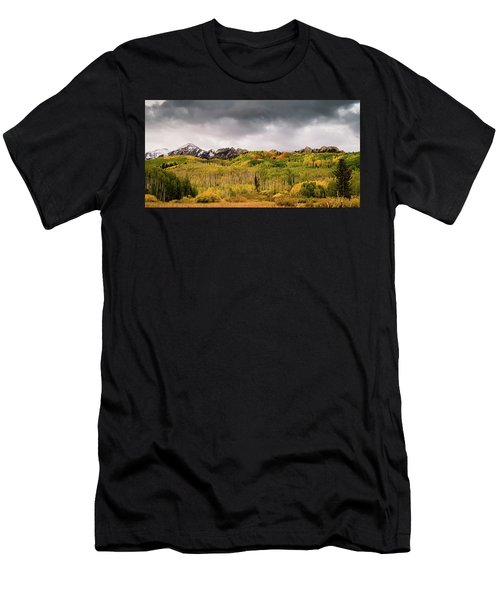 Men's T-Shirt (Athletic Fit) featuring the photograph Kebler Pass by Stephen Holst