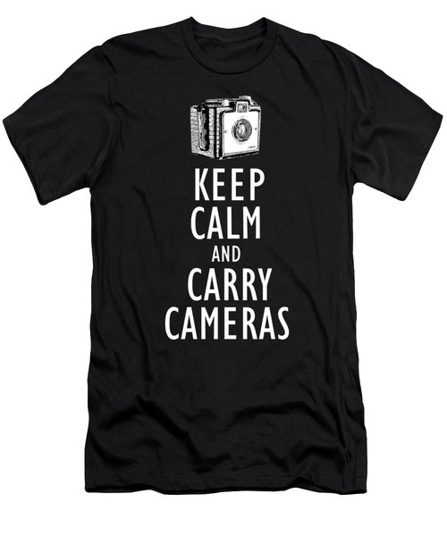 Keep Calm And Carry Cameras Tee Men's T-Shirt (Athletic Fit)