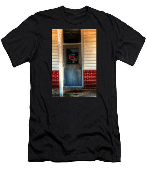 Keep Out Men's T-Shirt (Slim Fit) by Ester  Rogers