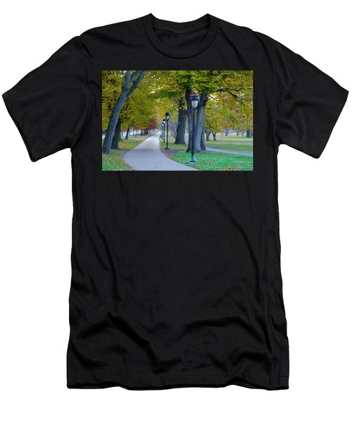 Men's T-Shirt (Athletic Fit) featuring the photograph Kelly Drive In Autumn by Bill Cannon