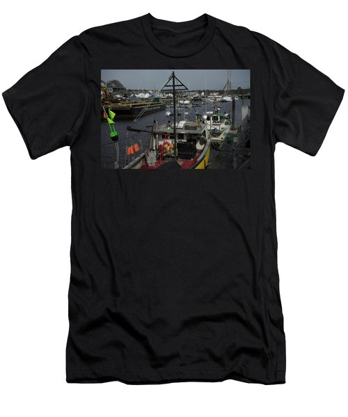 Kennebunkport Harbor In Early Winter Men's T-Shirt (Athletic Fit)