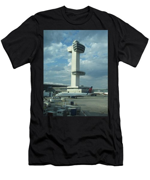 Kennedy Airport Control Tower Men's T-Shirt (Athletic Fit)