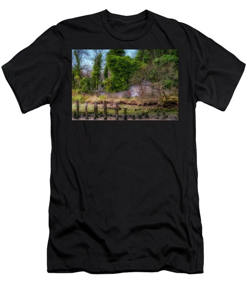Men's T-Shirt (Athletic Fit) featuring the photograph Kennetpans Distillery Ruins by Jeremy Lavender Photography
