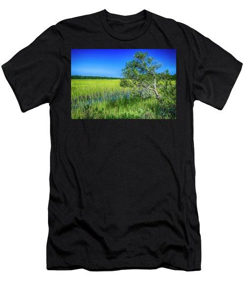 Kent Mitchell Nature Trail, Bald Head Island Men's T-Shirt (Athletic Fit)