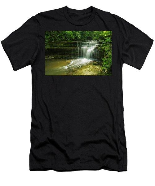 Kentucky Waterfalls Men's T-Shirt (Slim Fit) by Ulrich Burkhalter