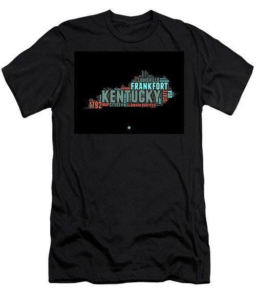 Kentucky Word Cloud Map 1 Men's T-Shirt (Athletic Fit)