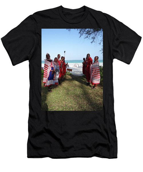 Kenya Wedding On Beach Maasai Bridal Welcome Men's T-Shirt (Athletic Fit)
