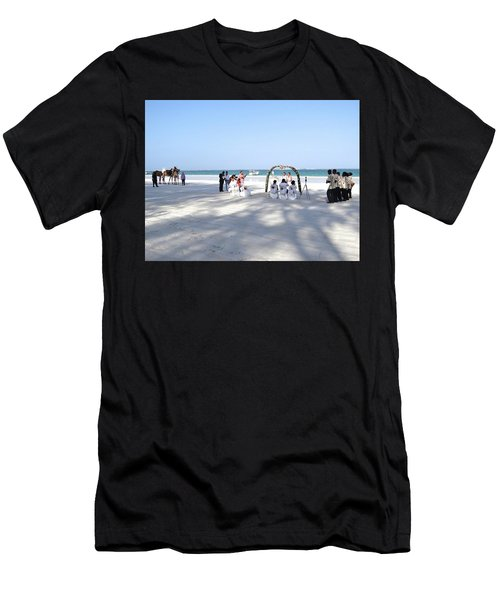 Kenya Wedding On Beach Wide Scene Men's T-Shirt (Athletic Fit)