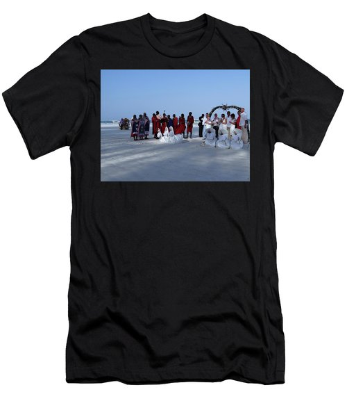 Kenya Wedding On Beach With Maasai Men's T-Shirt (Athletic Fit)