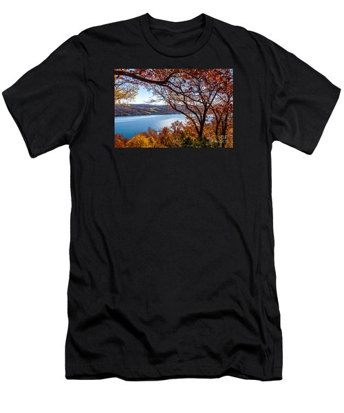 Men's T-Shirt (Athletic Fit) featuring the photograph Keuka Lake Vista by William Norton