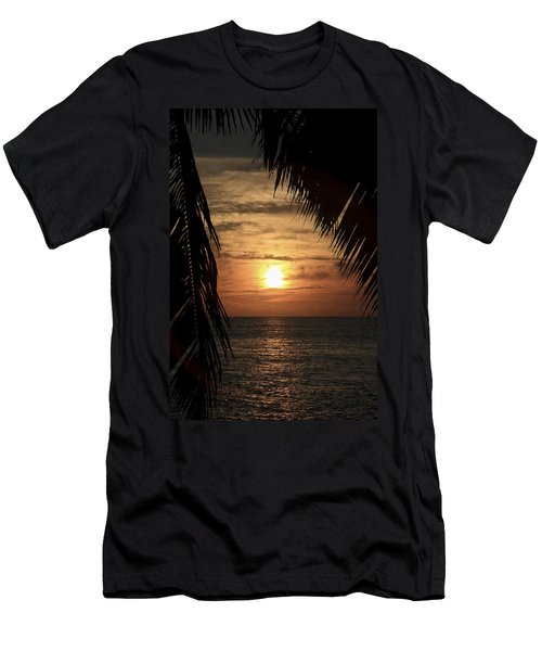 Key West Palm Sunset 2 Men's T-Shirt (Athletic Fit)