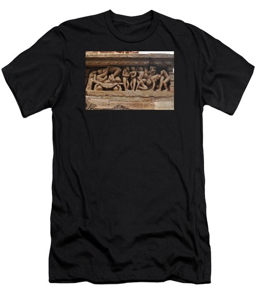 Khajuraho Temples-1 Men's T-Shirt (Athletic Fit)