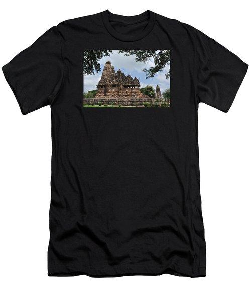 Khajuraho Temples 4 Men's T-Shirt (Athletic Fit)