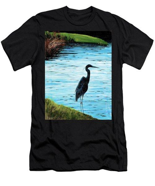 Kiawah Heron Men's T-Shirt (Athletic Fit)