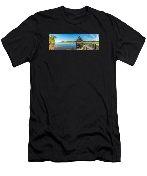 Kiawah Island Boathouse Panoramic Men's T-Shirt (Athletic Fit)