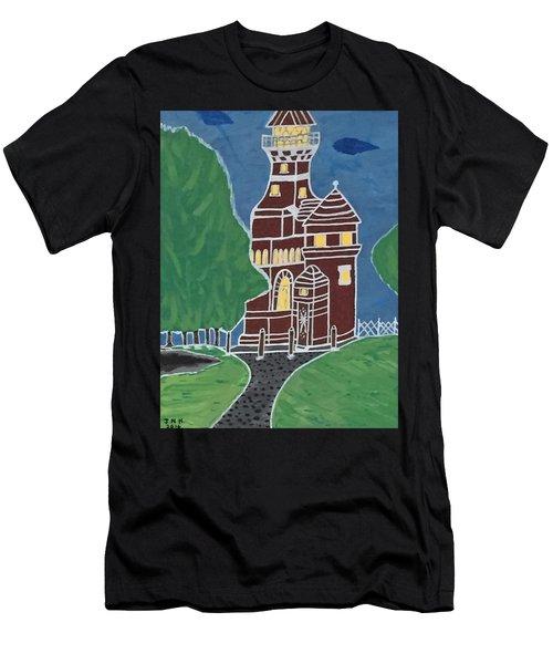 Kiel Germany Lighthouse. Men's T-Shirt (Athletic Fit)