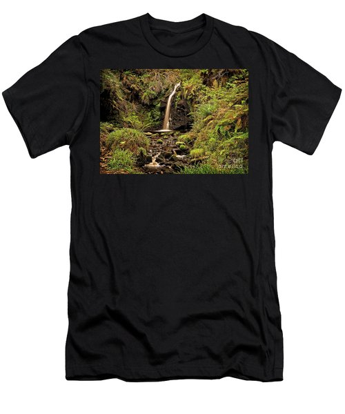 Kielder Forest Waterfall Men's T-Shirt (Athletic Fit)