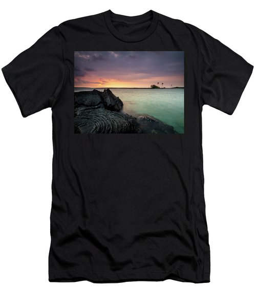 Kiholo Bay Sunset Men's T-Shirt (Athletic Fit)
