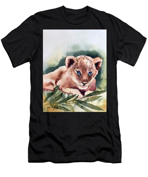 Kijani The Lion Cub Men's T-Shirt (Athletic Fit)