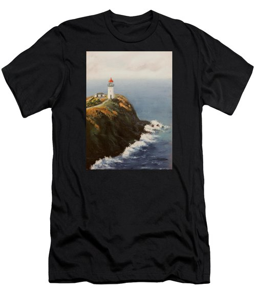 Kilauea Lighthouse Men's T-Shirt (Athletic Fit)