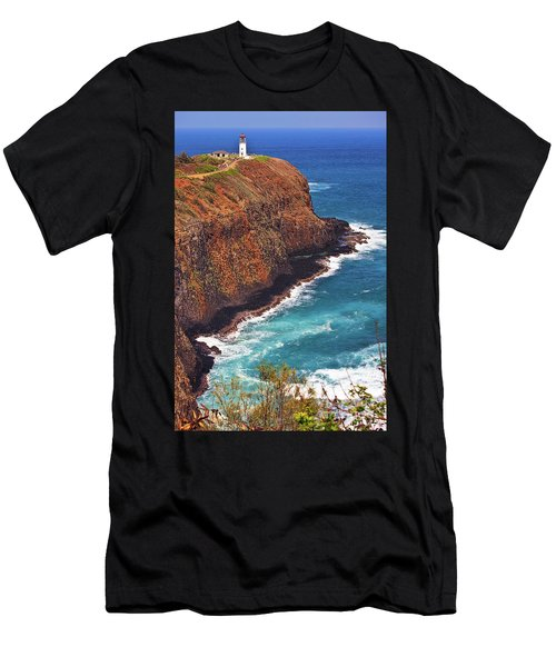 Men's T-Shirt (Athletic Fit) featuring the photograph Kilauea Lighthouse On The Island Of Kauai, Hawaii, United States Of America          by Sam Antonio Photography
