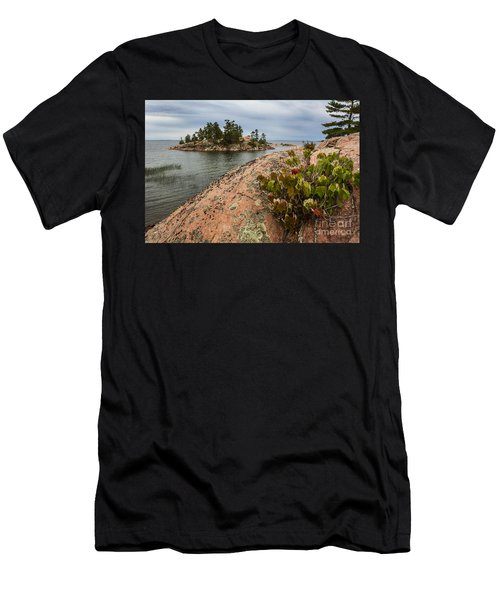 Killarney-island-pink-4530 Men's T-Shirt (Athletic Fit)