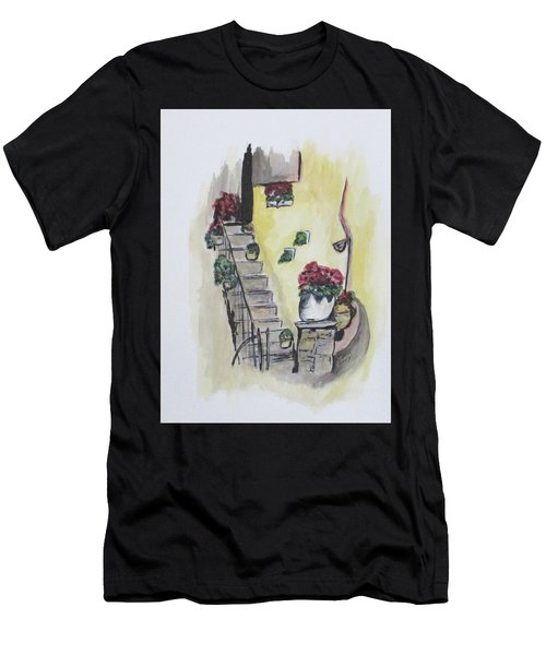 Kimberly's Castellabate Flowers Men's T-Shirt (Athletic Fit)