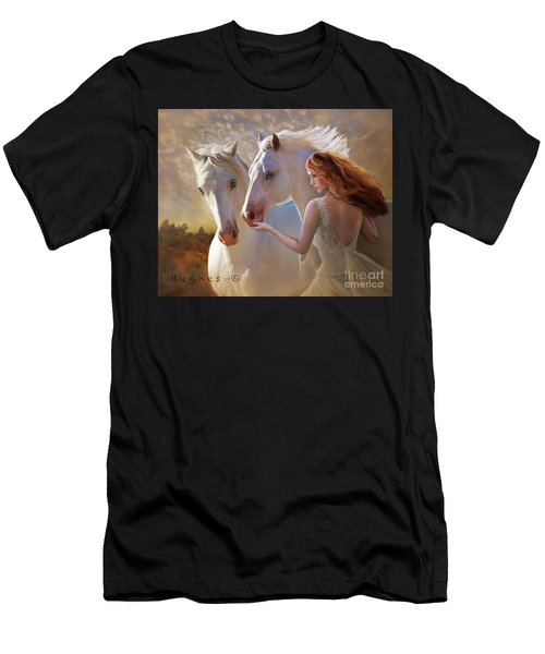 Men's T-Shirt (Athletic Fit) featuring the digital art Kindred Spirits by Melinda Hughes-Berland