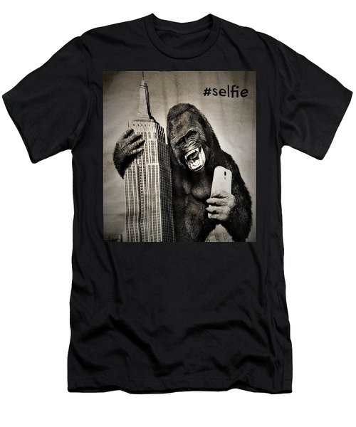 King Kong Selfie Men's T-Shirt (Athletic Fit)