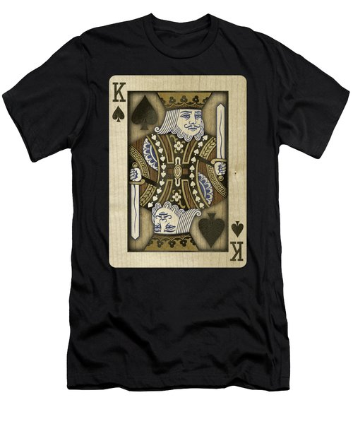 King Of Spades In Wood Men's T-Shirt (Athletic Fit)