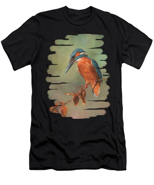 Kingfisher Perched Men's T-Shirt (Athletic Fit)