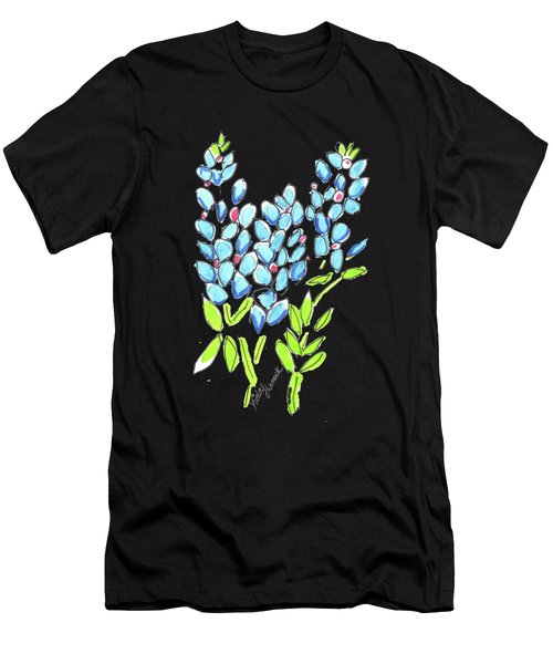 Kinley Bluebonnet And Horse Watercolor Men's T-Shirt (Athletic Fit)
