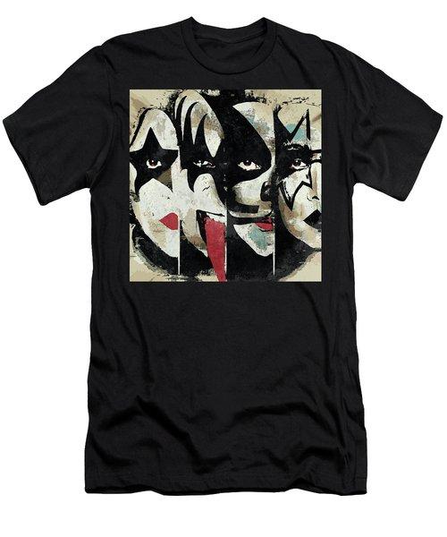 Kiss Art Print Men's T-Shirt (Athletic Fit)