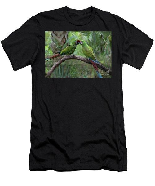 Kissing Macaws Men's T-Shirt (Athletic Fit)