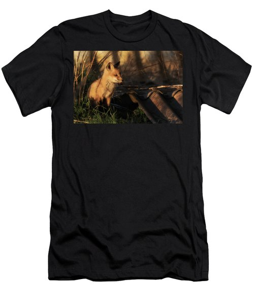 Kit Fox Sunset Men's T-Shirt (Athletic Fit)