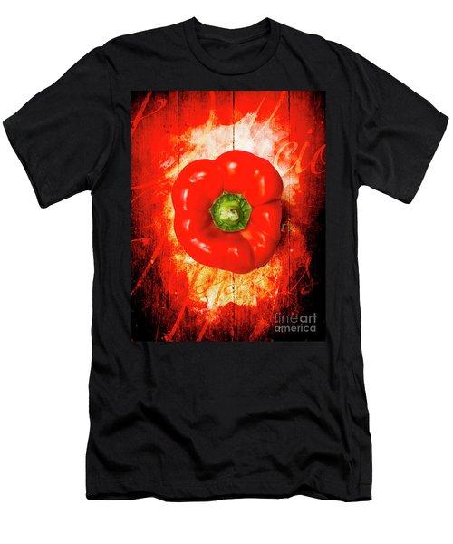 Kitchen Red Pepper Art Men's T-Shirt (Athletic Fit)