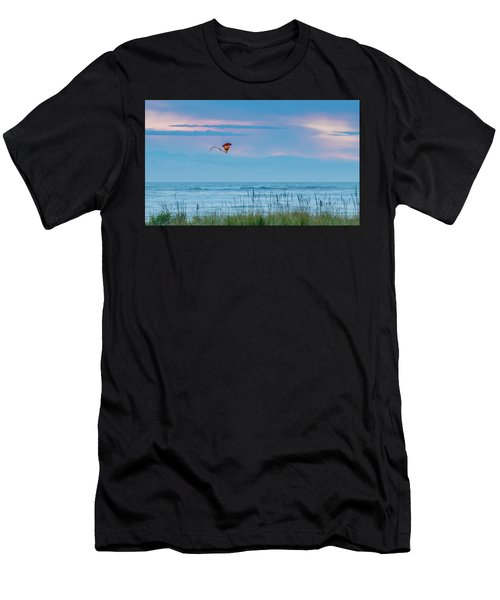 Kite In The Air At Sunset Men's T-Shirt (Athletic Fit)