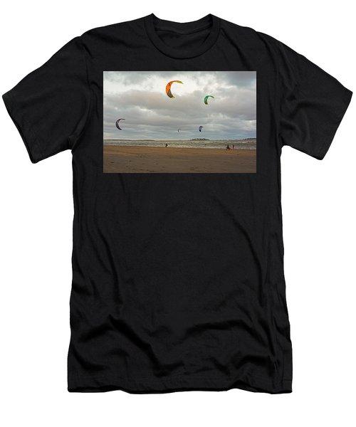 Kitesurfing On Revere Beach Men's T-Shirt (Athletic Fit)