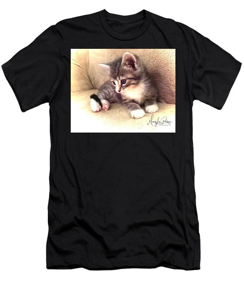 Kitten Deep In Thought Men's T-Shirt (Athletic Fit)