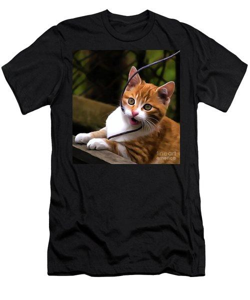 Kitten Portrait Player Men's T-Shirt (Athletic Fit)