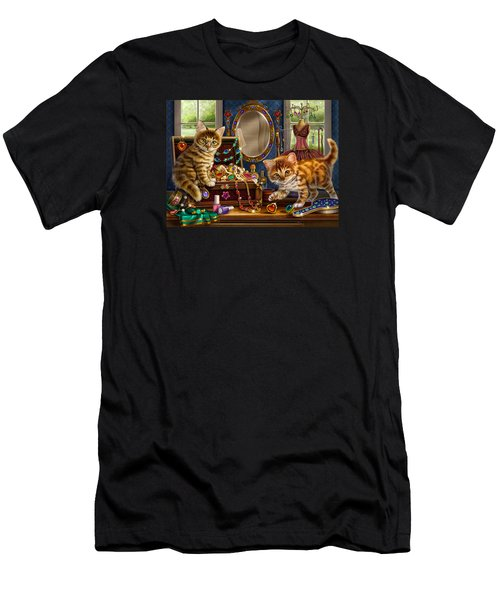 Kittens With Jewelry Box Men's T-Shirt (Athletic Fit)