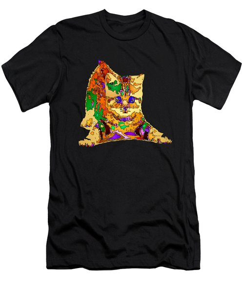 Kitty Love. Pet Series Men's T-Shirt (Athletic Fit)