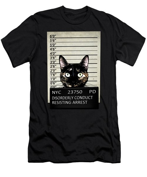 Kitty Mugshot Men's T-Shirt (Athletic Fit)
