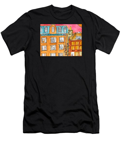 Kittyscape Hotel Men's T-Shirt (Athletic Fit)