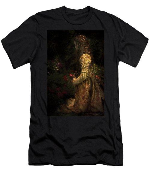 Kneeling In The Garden Men's T-Shirt (Athletic Fit)
