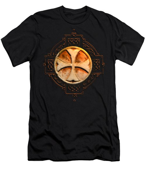 Knights Templar Symbol Re-imagined By Pierre Blanchard Men's T-Shirt (Slim Fit) by Pierre Blanchard
